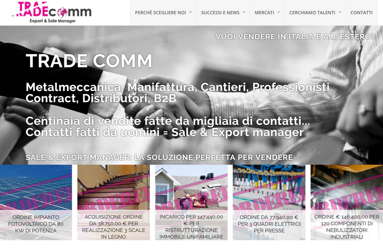 Trade Comm – Lo strumento per vendere in Italia e all' Estero