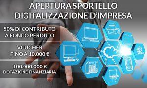 10.000 € di Voucher per la digitalizzazione d'impresa – 50% a fondo perduto per informatizzazione aziendale – imminente apertura sportello