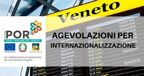 Regione Veneto: Voucher 50% per il sostegno all'acquisto di servizi per l'internazionalizzazione da parte delle PMI