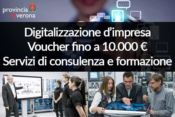 CCIAA VERONA – Voucher fino a 10.000€ per la digitalizzazione d'impresa