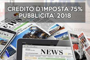 Credito d'imposta al 75% per Pubblicità 2018 – aperte le domande da Settembre