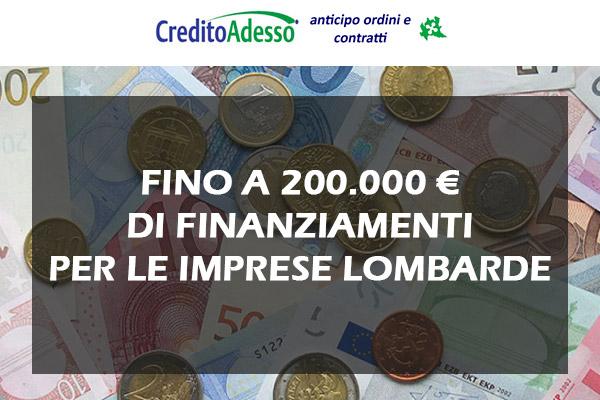 Regione Lombardia – Credito Adesso: liquidità per la tua azienda