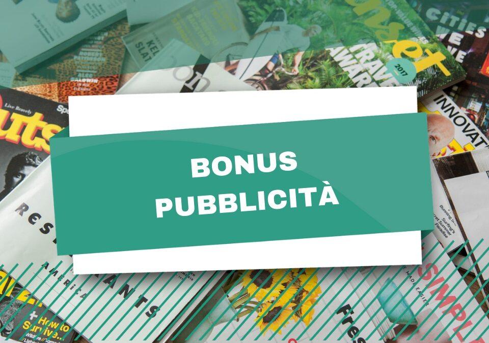 bonus pubblicita 2021